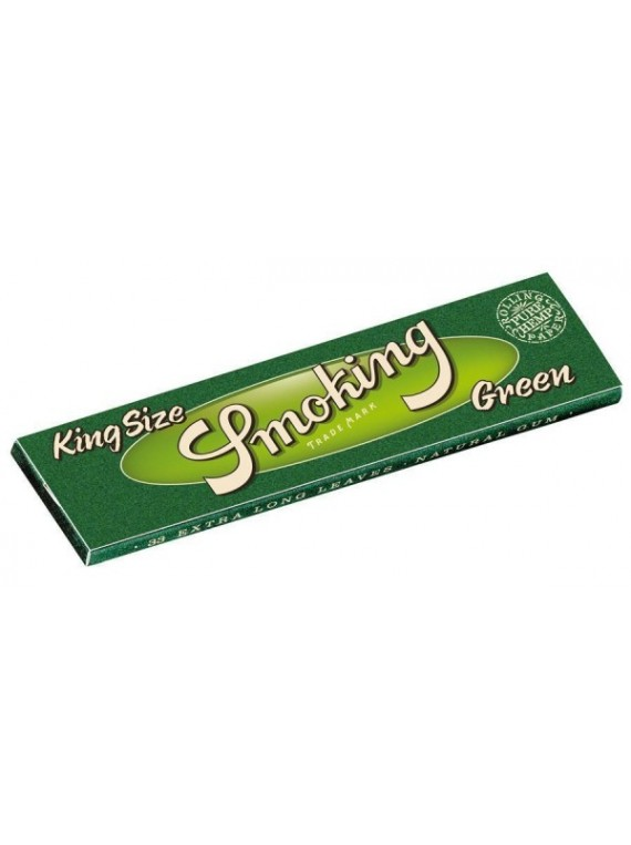 Shop de CBD: Achète les feuilles à rouler Smokiing Green King Size !