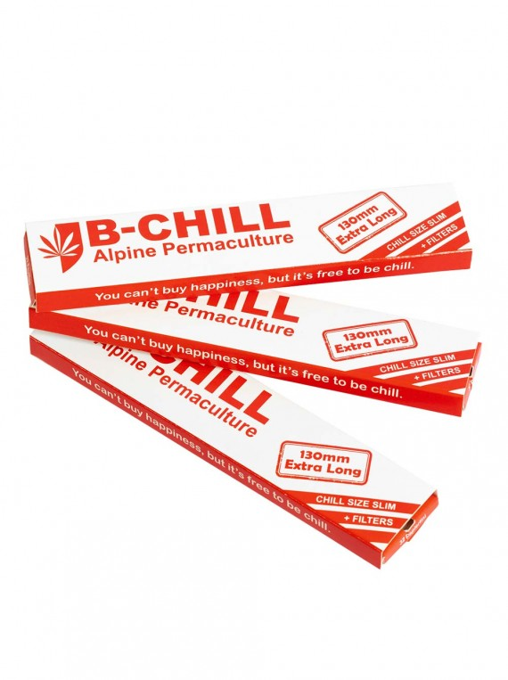 10 packages of Chill Size Slim 130mm Rolling Papers